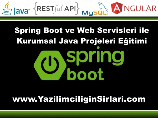 Spring Boot veWeb Servisleri ile Kurumsal Java Projeleri Eğitimi