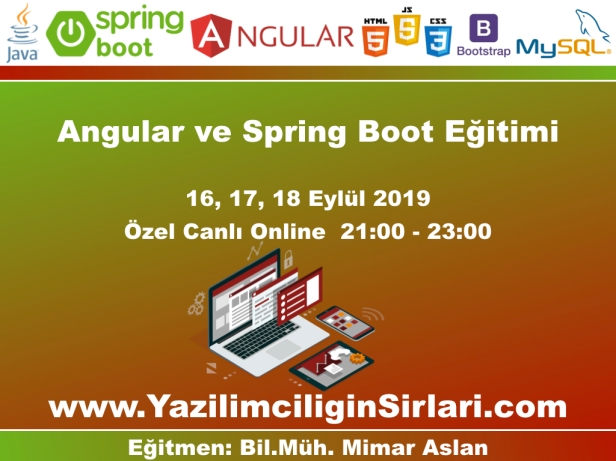 Angular ve Spring Boot Eğitimi
