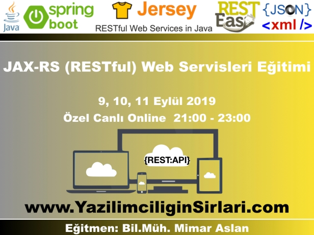 JAX-RS (RESTful) Web Servisleri Eğitimi